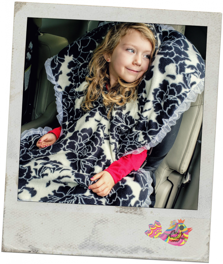 girl car seat poncho