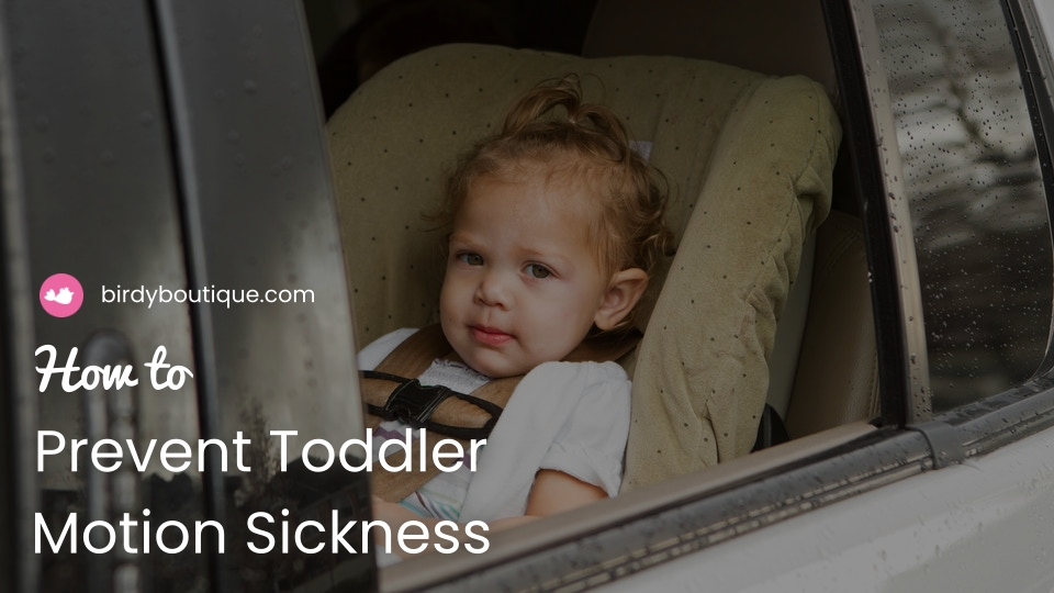 how to prevent toddler motion sickness