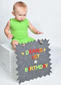 1st Birthday Board Message Card