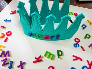Crown Colorful Write Letters Message