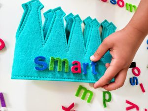 Prek Letter Crown Manipulative Activity
