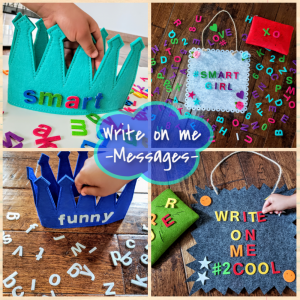 Write Letterboard and Message Crown for Kids