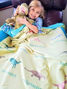 I Love Dinosaurs Blanket