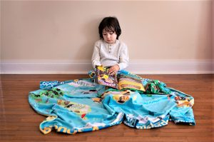 Learn Continents Oceans Geography Blanket World