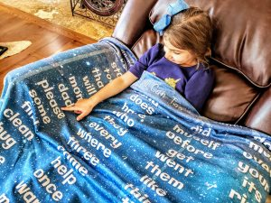 Sight Word Homeschool Blanket Kids Students