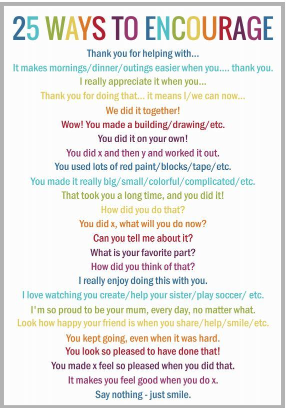 Encouraging Statements for Kids