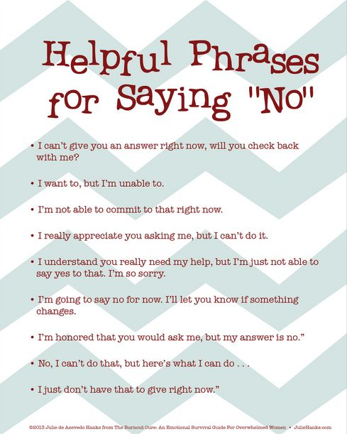 Instead of Saying No Phrases