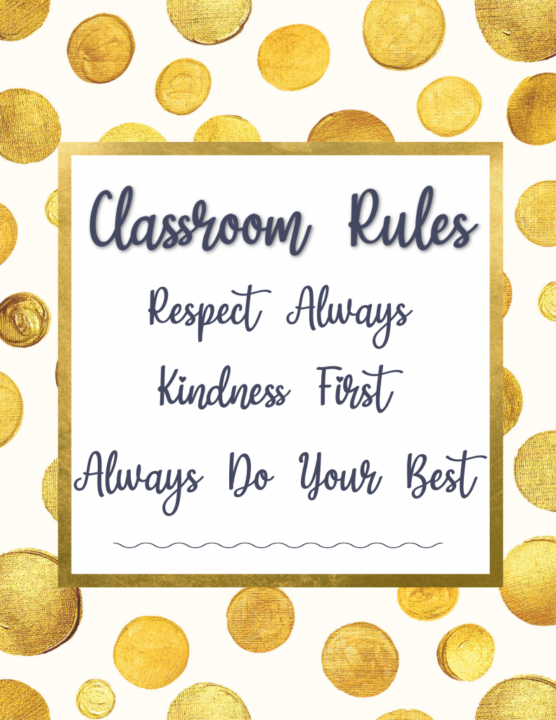 Classroom Home Rules Download