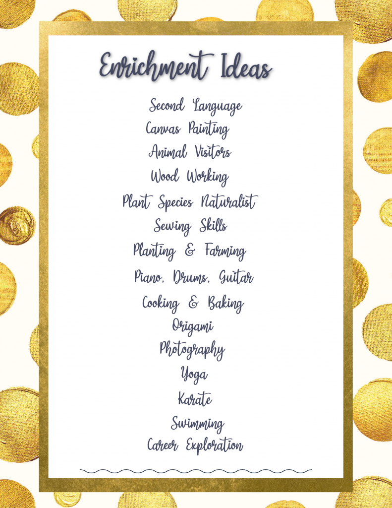 Enrichment Ideas Home School Remote Virtual Learning