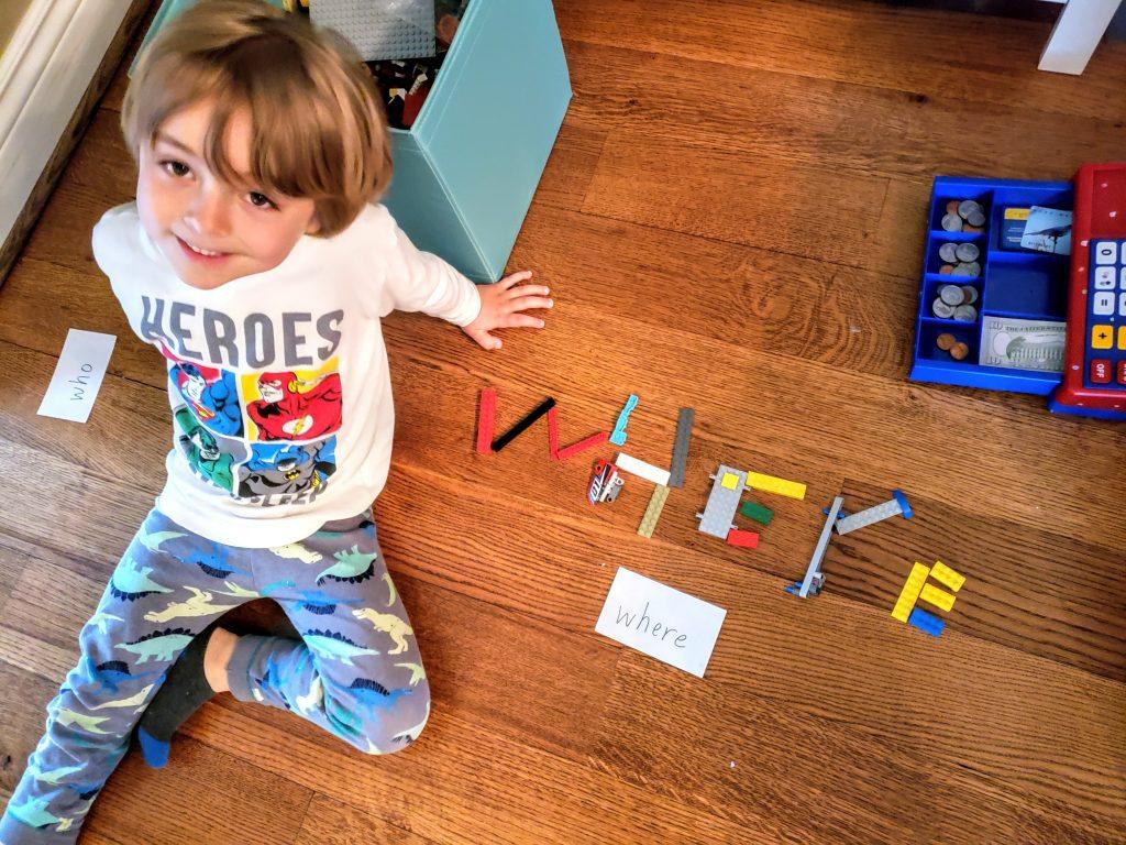 lego make sight words